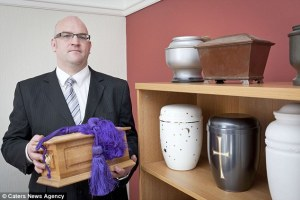 Urns: Mr Painter said every individual should get 'the opportunity of a peaceful final resting place'