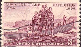 800px-Lewis_and_Clark_1954_Issue-3c-300x192