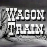 wagon train b&w