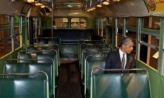 rosa parks bus at the Henry Ford Museum in Dearborn, Michigan