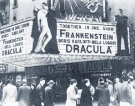Frankenstein and Dracula Marquee