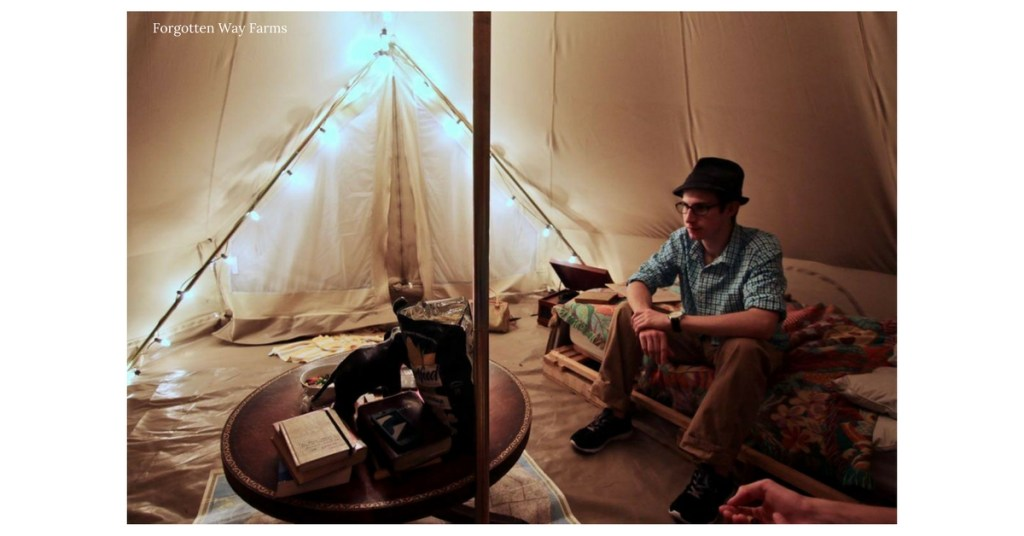 What an adventuresome life, love these blogposts and that tent.... Swoon!
