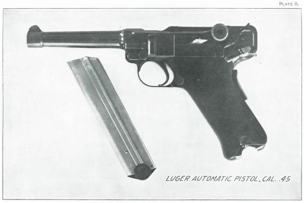 .45 caliber Luger automatic pistol