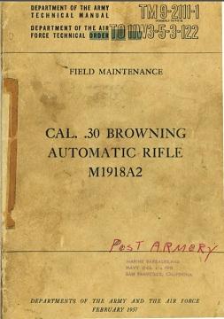 M1918A2 Field Maintenance