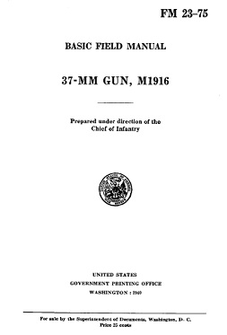 M1916 37mm gun manual