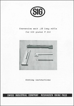 P210 .22LR Conversion UInit Manual