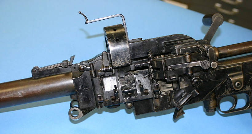 Madsen tank gun left side, without ammo box