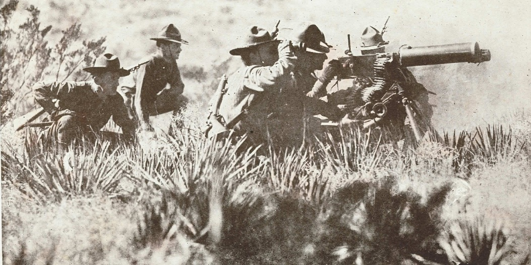 1904 Maxim in action in Mexico