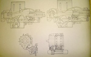 Belt-fed Madsen gun line drawing