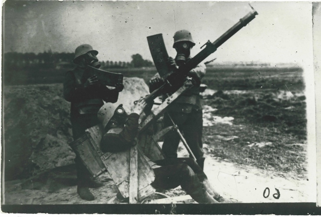 AA Gunnery in Gas Masks