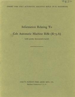 Colt R75(A) BAR manual