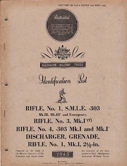 Australian Weapons Identification List (1945, English)