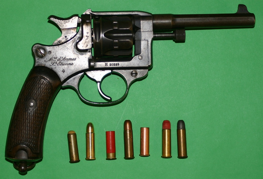 French Model 1892 revolver in 8mm with an assortment of ammunition