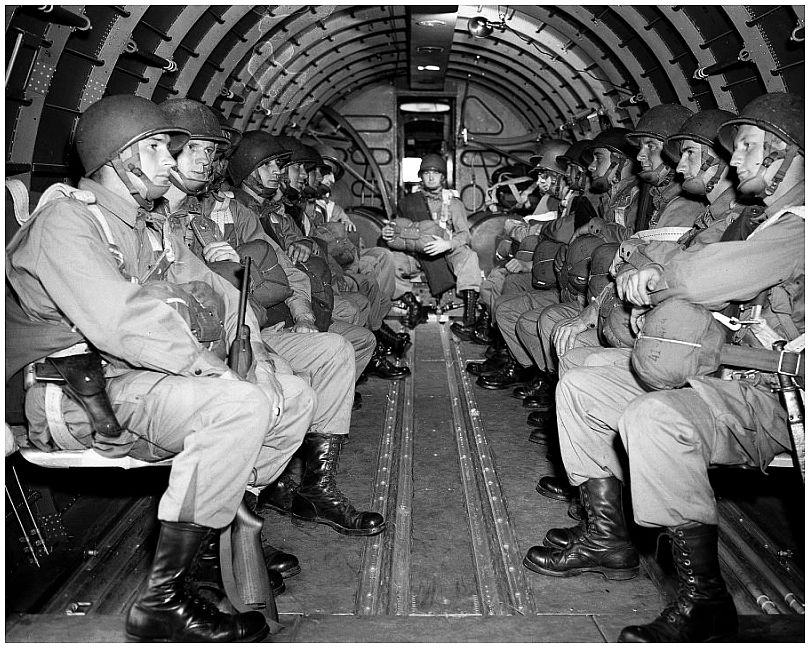 Paratroopers en route to Normandy
