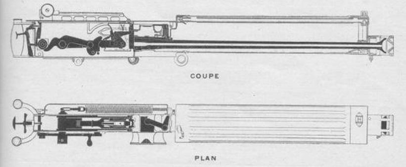 1909 Vickers machine gun cutaway view