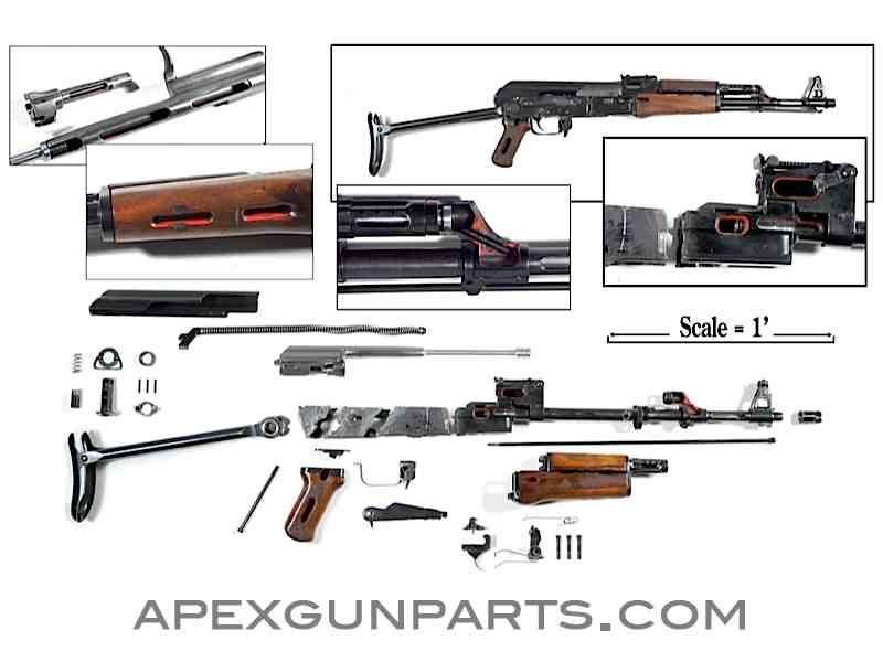 Polish cutaway AK parts kit from Apex Gun Parts