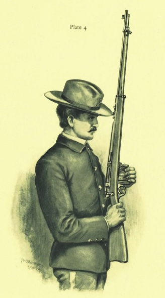 .30-40 Remington-Lee rifle in military configuration