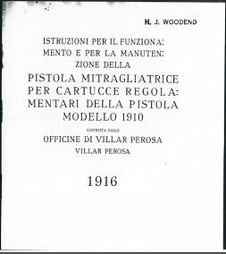 Istruzioni per il Funzionamento e per la Manutenzione della Pistola Mitragliatrice Villar Perosa (Italian, 1916)