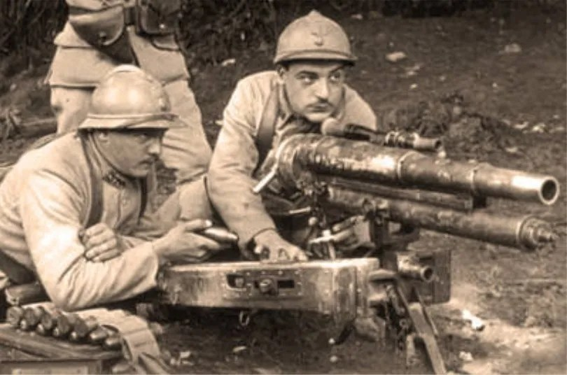 French troops with an M1916 37mm cannon