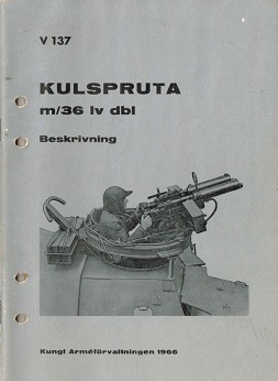 Kulspruta m/36 Lv Dbl manual (Swedish, 1966)