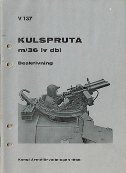 Kulspruta m/36 Lv Dbl manual (Swedish, 1966)