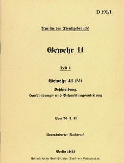 Gewehr 41(M) Manual (German, 1942)