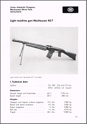 SIG KE-7 Sales Brochure (English)