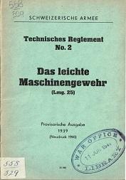 Das Leichte Maschinengewehr LMG25 (German, 1939)