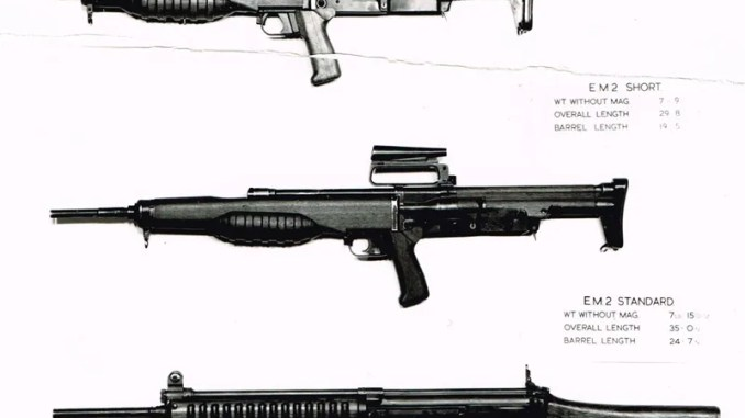 Shorty EM2 with regular EM2 and early FAL