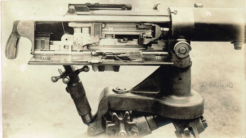 Perino machine gun internal parts