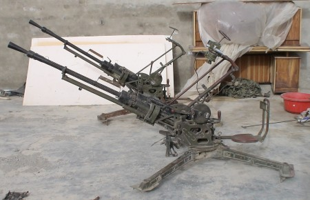 KPV 14.5mm heavy machine gun, captured in Afghanistan
