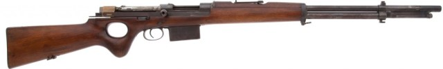 Snabb conversion of an 1893 Mauser rifle (right)