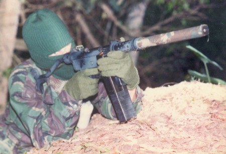 Brazilian Uru submachine gun with suppressor