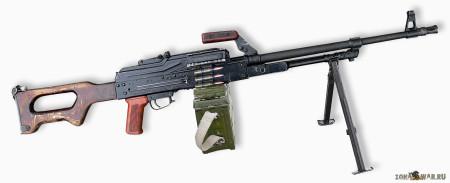 Modernized PK machine gun (PKM)