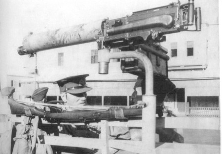 Vickers gun mounted on a truck