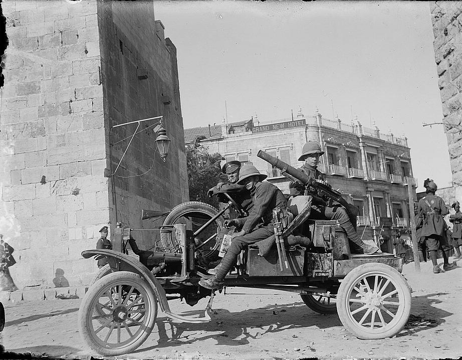 British armed truck in Palestine
