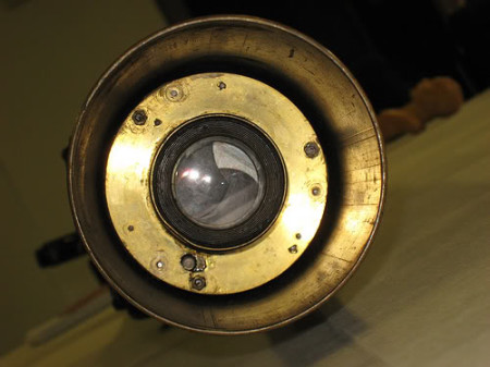 Lens and shutter of the Hythe gun camera