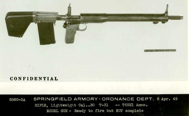 Garand T31 experimental bullpup rifle (first model)