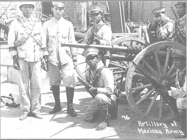 Hotchkiss 37mm automatic cannon in Mexican service