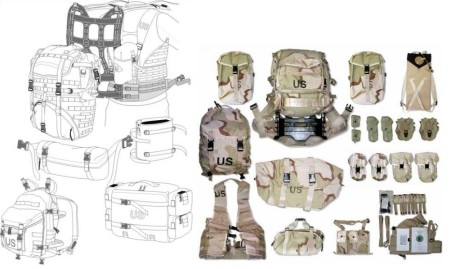 US MOLLE web gear