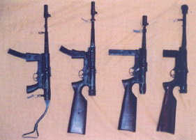 Different versions of the Argentinian Halcon SMG