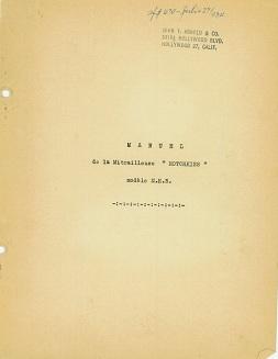 Hotchkiss M1922 MH5 (heavy barrel) manual (French)