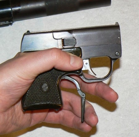 Cocking the internal hammer of the MSP pistol