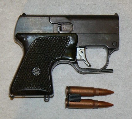 MSP pistol with loaded clip of SP-3 ammunition