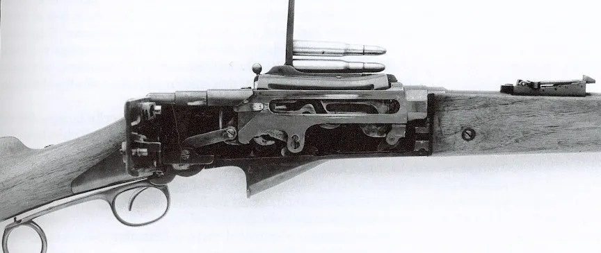 Madsen-Rasmussen 1888 magazine (side view)