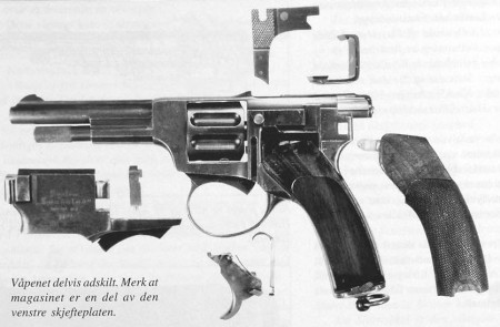 Landstad automatic revolver disassembled