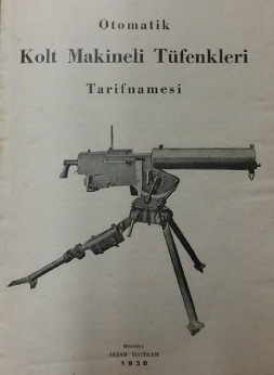 Colt MG40 Aircraft Gun Manual (Turkish, 1936)