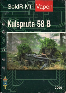 Kulspruta 58B Manual (Swedish, 2000)