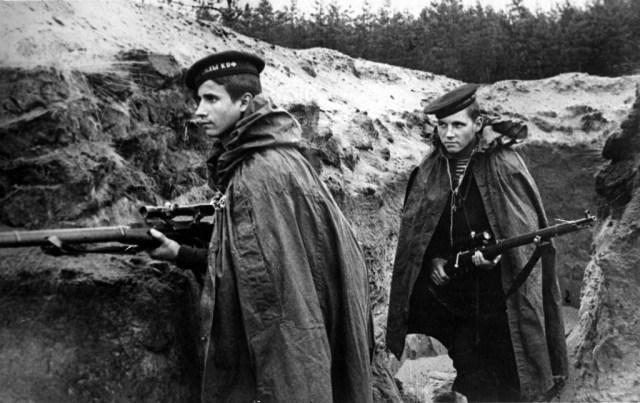 Soviet sailors of the Baltic Fleet at Leningrad