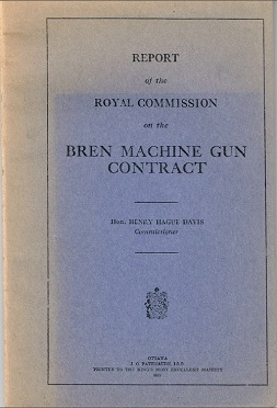 Report on Royal Commission on the Bren Machine Gun Contract (English, 1939)